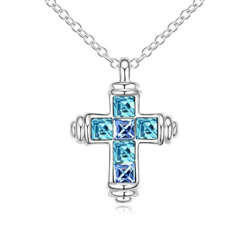 18-ct-white-gold-plated-blue-simulated-aquamarine-high-quality-austrian-crystals-cross-pendant-neckl