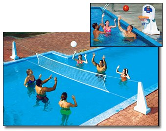 NEW Pool Jam In Ground Valleyball/Basketball Net (Combo Swimming Pool Basketball)