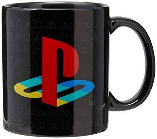Caneca Playstation Banana Geek Preta