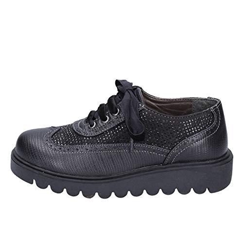 DIDI BLU Oxford-Flats Baby-Girls Leather Black 13-13.5 US