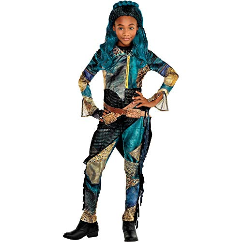 Party City Uma Halloween Costume for Girls, Descendants 3, Medium, Includes Accessories -