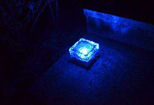 Blue Solar Rock Lights