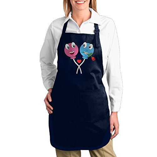 Chainsaw Lollipop Costumes (Dogquxio Double Lollipops Kitchen Helper Professional Bib Apron With 2 Pockets For Women Men Adults Navy)
