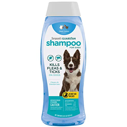 Sergeant's Guardian Flea & Tick Dog Shampoo in Clean Cotton, 18 oz. (00102)