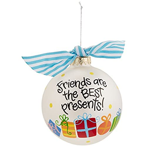 coton colors friends are the best presents glass ornament - Best Friend Christmas Ornaments