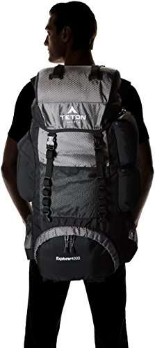TETON Sports Explorer 4000 Internal Frame Backpack; High-Performance Backpack for Backpacking, Hiking, Camping 9 NOT YOUR BASIC BACKPACK: Continues to be the top selling internal frame backpack on Amazon at a great price for all the included features VERSATILE QUICK TRIP PACK: Perfect backpack for men, woman and youth; best for 3-5-day backpacking trips; 3400 cubic inches (65 L) capacity; weighs 5 pounds (2.3 kg) COMFORT YOU CAN CUSTOMIZE: Multi-position torso adjustment fits wide range of body sizes; Durable open-cell foam lumbar pad and molded channels provide maximum airflow and balance