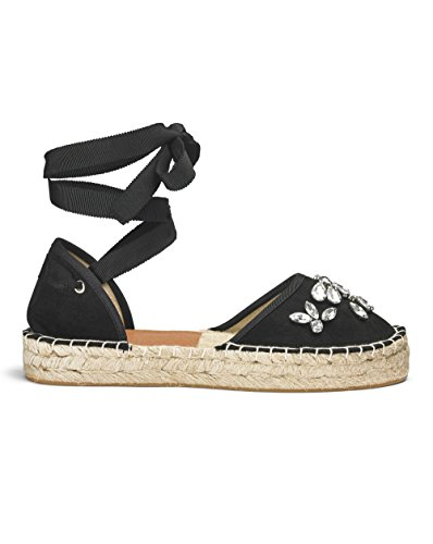 Simply Be Womens Sole Diva Jewelled Wrap Espadrille Black hWfHMp0Sm