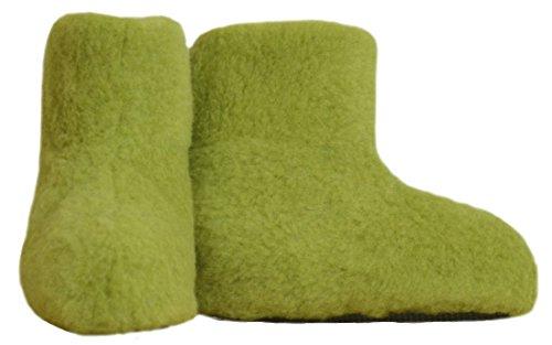 SamWo FW Parent - Zapatillas de estar por casa de Lana para mujer 48 Verde - Green Pea