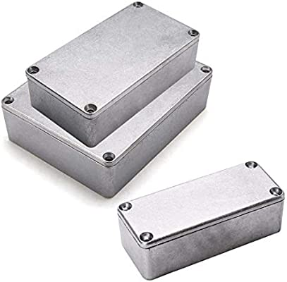 Caja de conexiones extra grande de aluminio fundido a troquel electrónica proyecto caja caja de conexiones impermeable instrumento recinto impermeable buena disipación de calor para exterior: Amazon.es: Bricolaje y herramientas