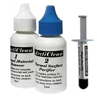 Arctic Silver 5 Thermal Compound 3.5 Grams with ArctiClean 60 ML Kit (D132) (B002DILLMS)   Amazon price tracker / tracking, Amazon price history charts, Amazon price watches, Amazon price drop alerts