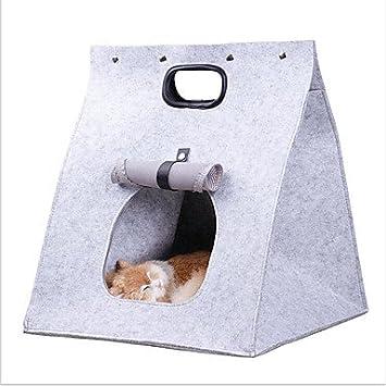xueyan& Gato Perro Transportines y Mochilas de Viaje Mascotas Portadores Portátil Plegable Un Color Gris Marrón