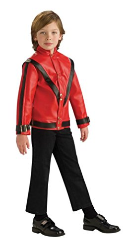 Boys M Jackson Thriller Jacket Kids Child Fancy Dress Party Halloween Costume, L (Michael Jackson Thriller Fancy Dress)