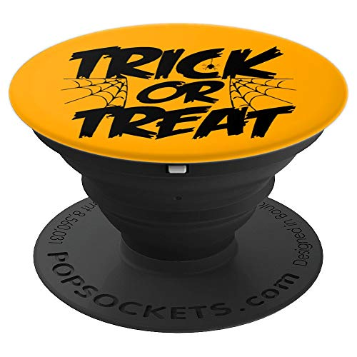 Scary Trick or Treat Halloween Sign Slogan - PopSockets Grip and Stand for Phones and (Slogan Sign)