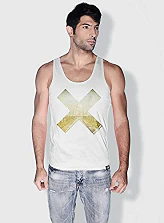 Creo India X City Love Tanks Tops For Men - Xl, White