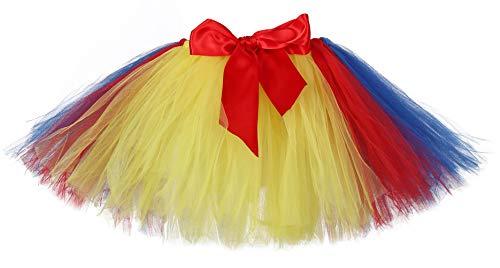 Tutu Dreams Snow White Tutu Costume for Women Adult Yellow Blue Red Skirt Dress Birthday Halloween Party (Free Size, Snow White)]()