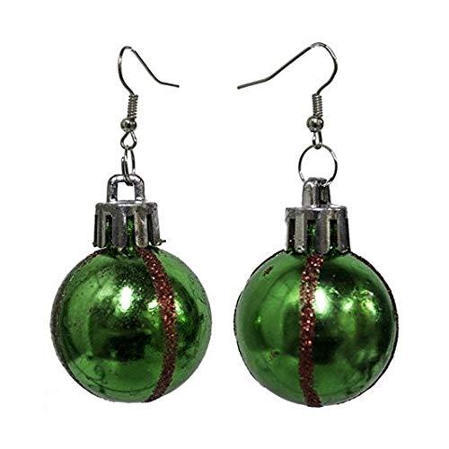 Glittery Ball Ornament Hook Earrings