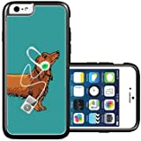 RCGrafix Brand Shawnex-SpringInk-Hipster-Weiner-Dog-Music iPhone 6 Case - Fits NEW Generic & Compatible with iPhone 6