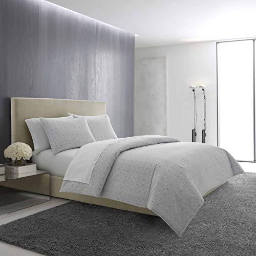 Vera Wang Printed Mirror Squares Comforter Set, King, Pastel - Vera Comforter