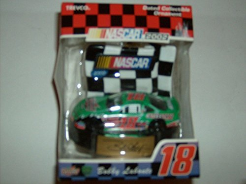 Nascar 2002 #18 Bobby Labonte Green Car Dated Collectable Ornament