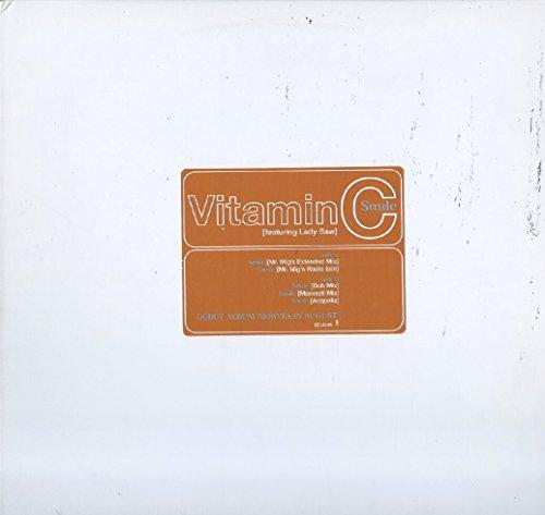 "Vitamin C feat. Lady Saw: Smile 12"" NM USA Elektra ED-6145"