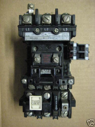 Allen Bradley size 0 509-AOA Starter AB 509AOA sz0 sz 0