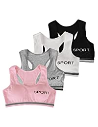 Evelin LEE Big Girls Womens Seamless Racerback Sports Bras Workout Gym