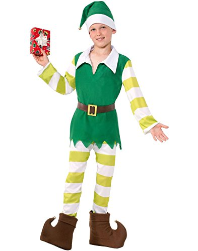 [Forum Elf Costume Santa Claus Helper Childs Costume Medium] (Childrens Santas Helper Costume)