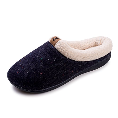 Beverly Rock Womens Sprankelende Fashion Faux Fleece Gevoerde Klompjes Pantoffels Marine