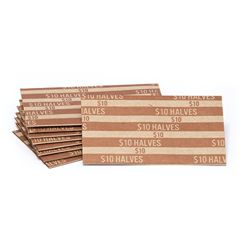 Half Dollar Flat Striped Coin Wrappers, Bundle of 100