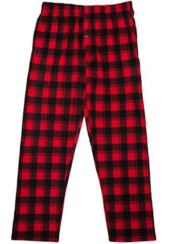 Pants Pajama Boys Fleece (North 15 Boy's Plaid Plush Fleece Pajama Pants-1205B-Design3-14-16)