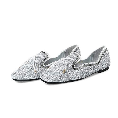 Inconnu 5 Compensées MMS06311 36 Silver 1TO9 Sandales Argenté Femme wx1Hwp
