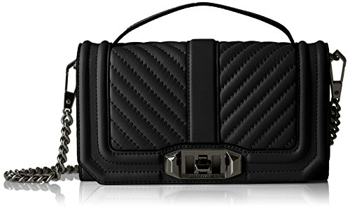 Rebecca Minkoff Love Phone Crossbody with Top Handle, Black