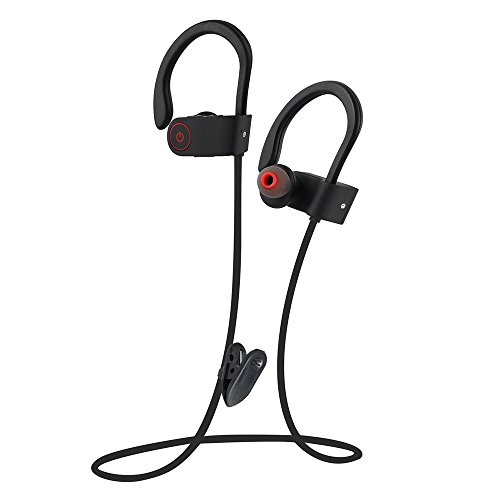 ICETEK Sports Bluetooth Headphones in Ear Wireless Headset for Quality Stereo Music Bass Earphones with Noise Cancelling Mic Water Splash Sweat Proof Gym Workout Outdoor(U8)