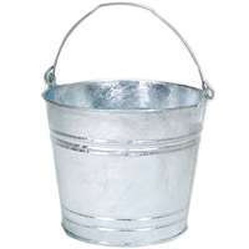 Lot of (6) 14 Hot Dipped Galvanized Metal 14 Qt Water Bucket Pail Tub 14 6231401 by Behrens Manufacturing