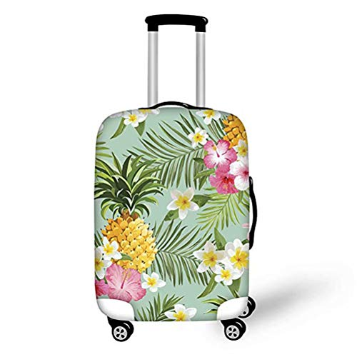 AFPANQZ Flowers Pineapple Durable Travel Luggage Covers Suitcase Protect Cover Bottom Zipper Closer Fit 18 19 20 21…