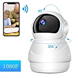 Security Camera Baby Monitor WiFi Camera Pet Camera,with Night Vision Two Way Audio
