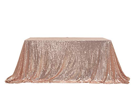 PartyDelight Sequin Tablecloth, Wedding, Sweetheart, Christmas Tree, Rectangular, 48
