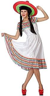 Atosa-4979 Disfraz Mejicana Color Blanco M-L (4979 c0eb4ae8ea6