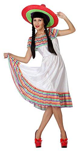 Atosa-4979 Disfraz Mejicana, Color Blanco, M-L (4979: Amazon.es ...