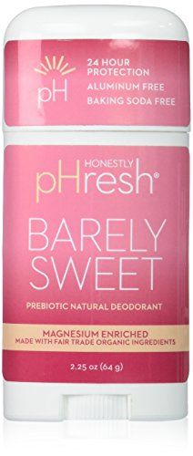 HONESTLY PHRESH Barely Sweet Stick Deodorant, 0.02 Pound