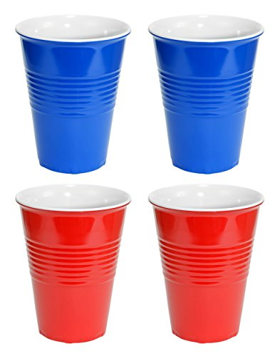 Fairly Odd Novelties Red and Blue Hard Plastic Cup 20oz - 4 Pack