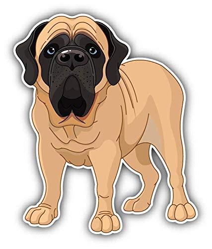 - JJH Inc English Mastiff Mascot Dog Vinyl Decal Sticker Waterproof Car Decal Bumper Sticker 5