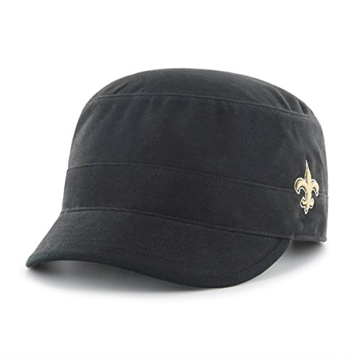 - NFL New Orleans Saints Women's Shipmate OTS Cadet Military-Style Adjustable Hat, Black, Women's