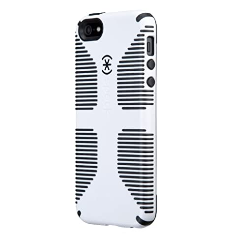 Speck Products CandyShell Grip Case for iPhone SE/5/5S -Retail Packaging- White/Black (Iphone 5s Speck Candy Case)