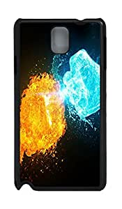 Fashion Style With Digital Art - Fire vs Ice Skid PC Back Cover Case for Samsung Galaxy Note 3 N9000 hjbrhga1544