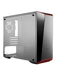 Cooler Master Gabinete para PC, Mini Torre con Panel Frontal de Espejo Oscuro, Panel Lateral de Acrílico, y Colores de Ajuste Personalizables