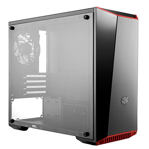 Cooler Master MasterBox Lite 3.1 mATX Tower w/Front Dark Mirror Panel, 3 Customize Color Trims  & Transparent Acrylic Side Panel (Cooling Glass For Mens Online)