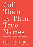 Book cover from Call Them by Their True Names: American Crises (and Essays) by Rebecca Solnit