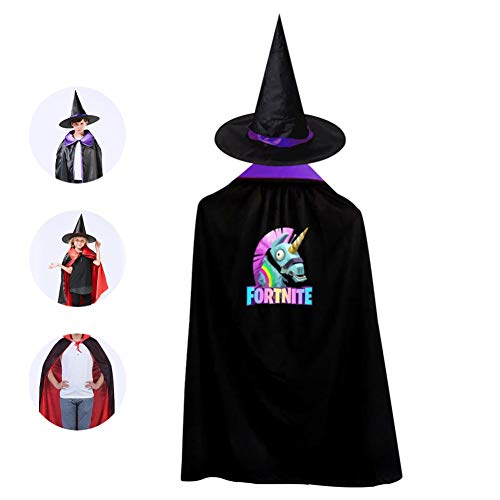 Fort Superhero Llama Unicorn Halloween Witch Wizard Cloak with Hat -
