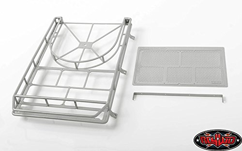 (CChand Krabs Roof Rack w/Spare Tire Mount for Axial SCX10 II XJ (Silver) (VVV-C0347))